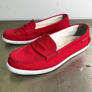 Cole Haan Nantucket Loafer Red Canvas